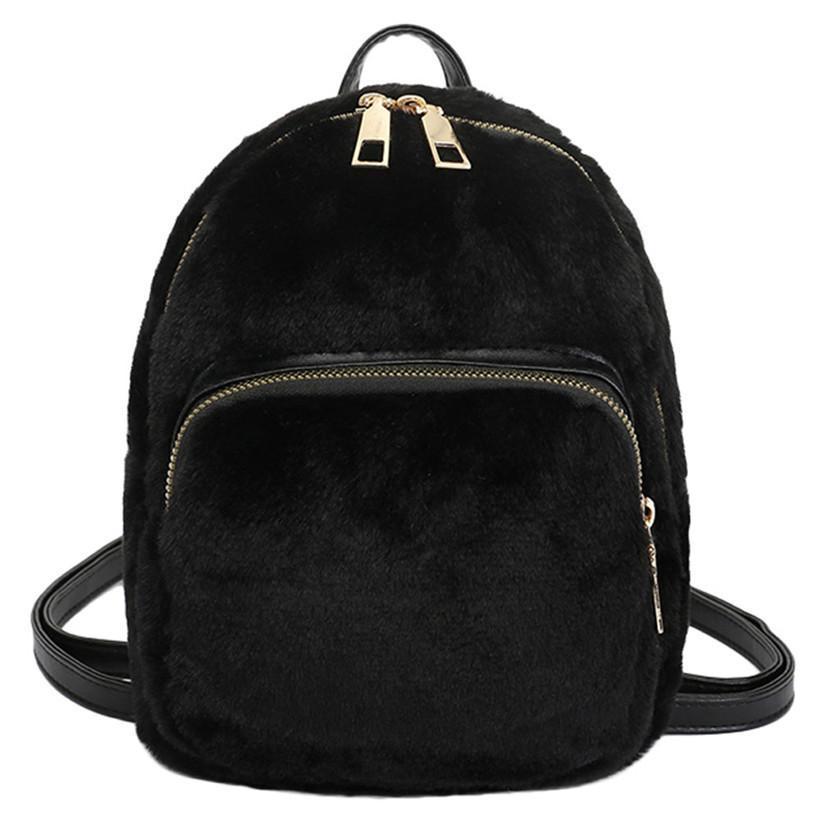 593257d8080 New Backpack Women Winter Cute Plush Mini Backpacks Girls Travel Book Pack  Shoulder Women Backpack Mochilas Mujer 2019 Best Backpacks Girls Backpacks  From ...