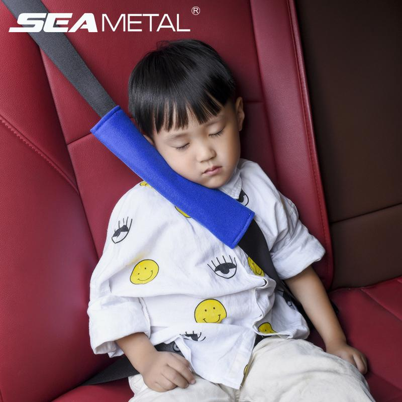 2pcs Car Seat Belt Pad Cover Auto Seats Belts Child Plush Safety Kids  Shoulder Protection Cushion Seatbelts Pillow Accessories