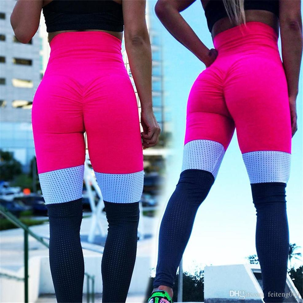 ac80f2fc06 2019 Sports Running Style Figure Flattering Breathable High Waist Hip  Lifter Piecing Bottoming Yoga Pants Leggings For Women #624875 From  Feiteng004, ...