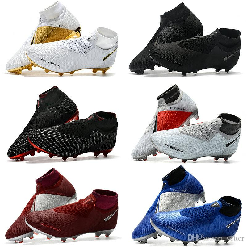 735f4db76 2019 Mens Soccer Cleats Phantom VSN Elite DF AG Sock Outdoor Soccer Shoes X  EA Sports Phantom Vision Football Boots Scarpe Calcio Size 39 45 From  Votter, ...