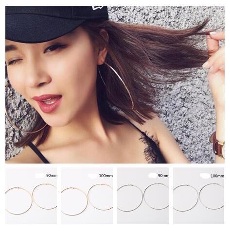 329c5a3d4 2019 Diameter 90mm 100mm Gold Silvery Exaggeration Big Earrings Ear Hoop  Earrings Super Large Ring Earrings Are Popular In Nightclubs From  Love_beautiful, ...