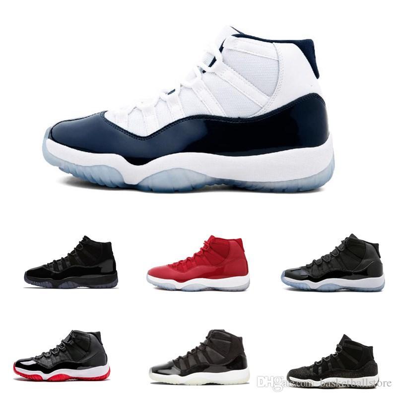online store 1a095 198e6 Acheter 2019 Platinum Tint Nike Air Jordan 11 Retro XI 11s Concord 45  Chaussures De Basketball Prom Night 11 Gym Red Cap Et Robe PRM Heiress Bred  Femmes ...