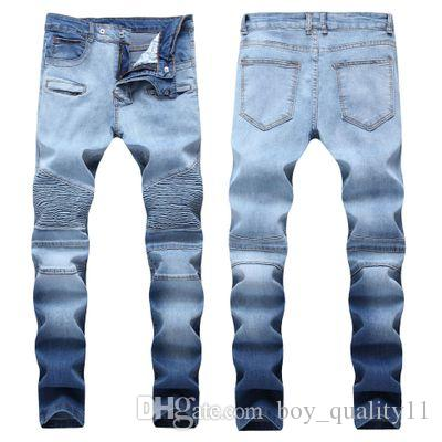 8431c2e586e09 2019 Mens Ripped Jeans Pants Slim Fit Distressed Denim Joggers For Male  Brand Designer Destroyed Jean Trousers Plus Size 40 From Boy quality11