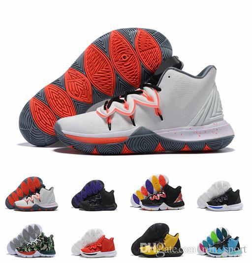 1cdb367849d5ee Acheter Avec Box Men Limited 5 Little Mountain Concepts 5s CNY Ikhet Néon  PE Taco Kyrie Chaussures De Basket Ball Hommes Baskets Taille US7 12 De  $90.18 Du ...