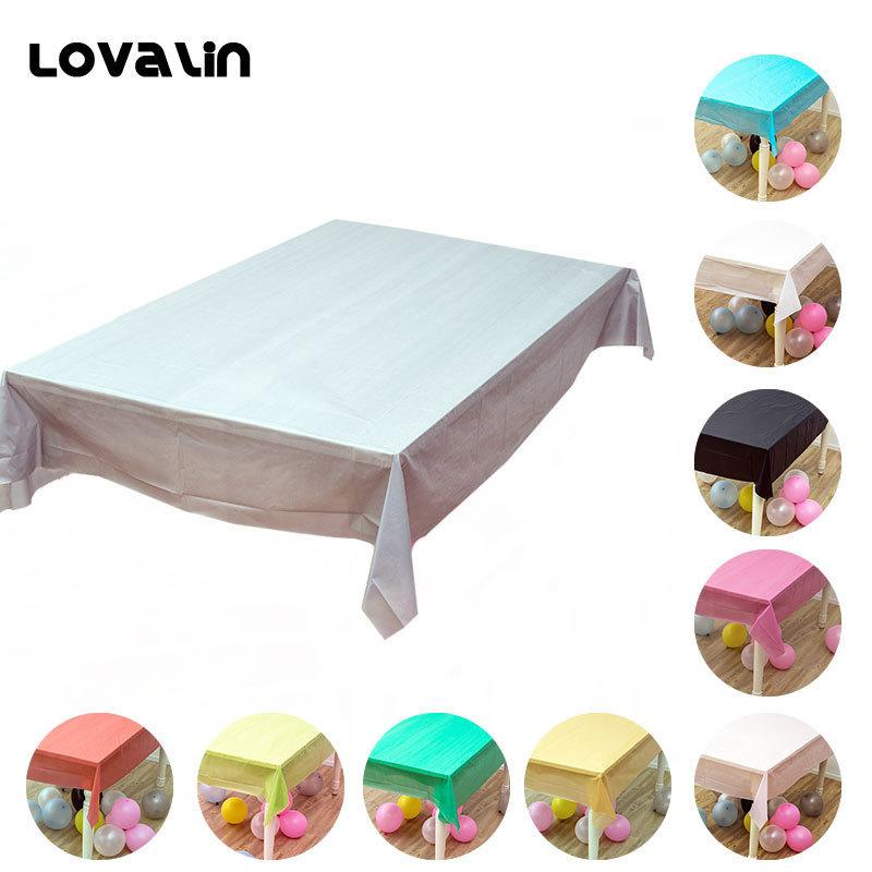 Lovalin Large Table Cover Plastic Rectangle Waterproof Tablecloth
