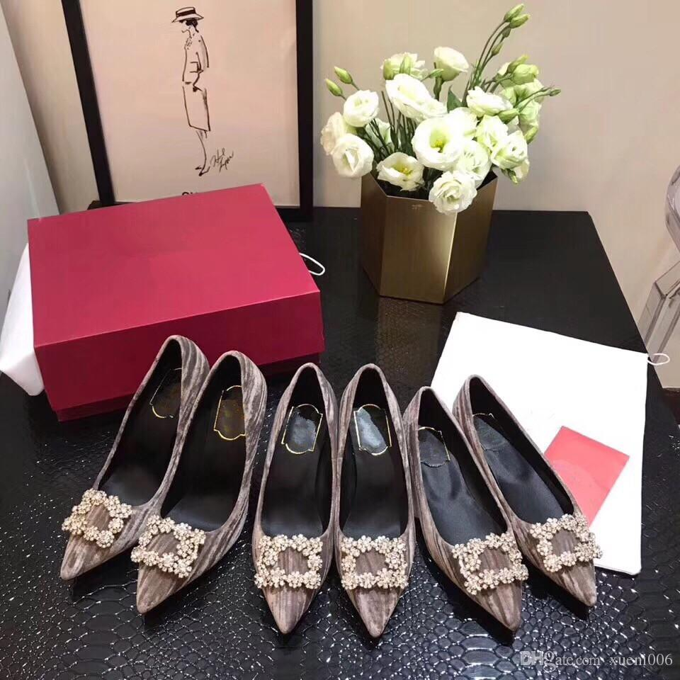 Red Bottom Leather Diamond High Heels Women Shoes Sexy Studded Red Sole  Heel Woman Wedding Pumps By18121501 Mens Dress Boots Men Sandals From  Xueni006, ...