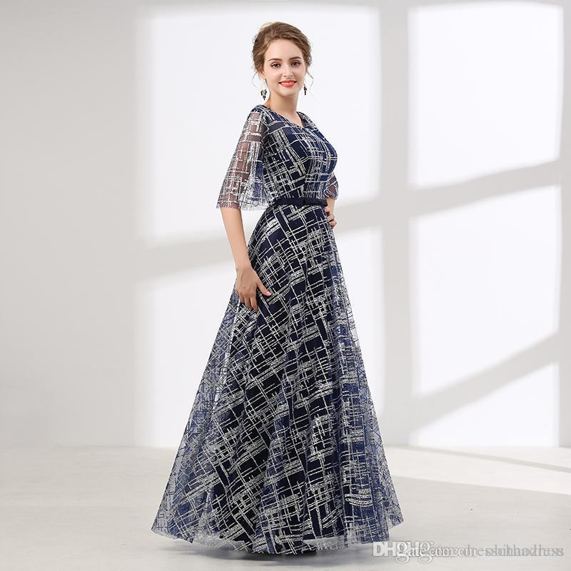 74237375517a Acquista Abito Da Sera Online Hot Lace Maniche A Cinque Punte Piano  Lunghezza Prom Dresses Occasioni Speciali Abiti Da Festa Economici A  65.33  Dal ...