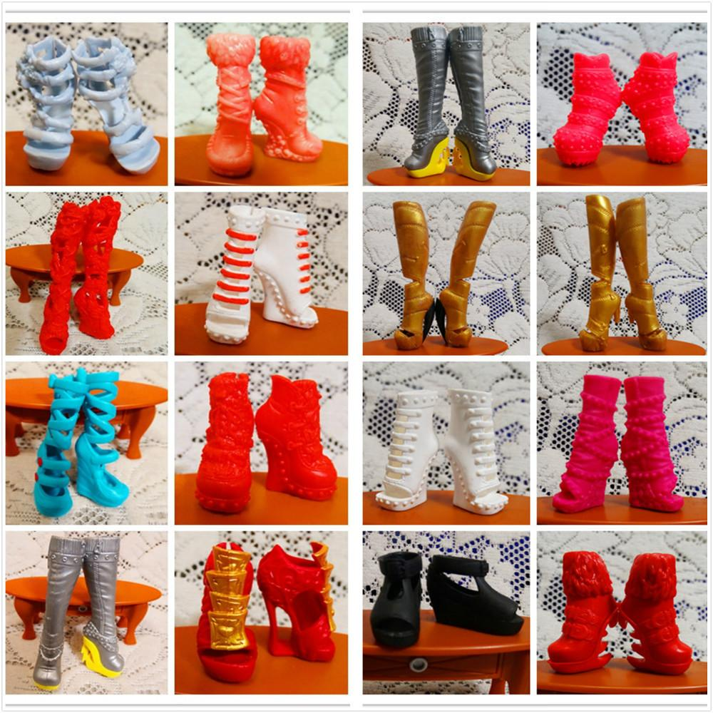 0d4186dbfe 100 Pairs/lot Factory Wholesale Original Monster Doll Shoes Mixed Style  Beautiful Boots Sandles 1/6 Dolls Shoes High Recommended