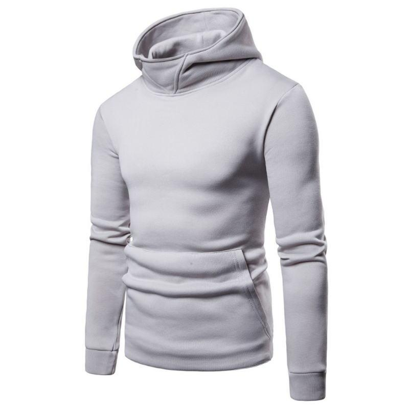 Nice Casual Hoodies Men 2018 Autumn Fashion Brand Pullover Solid Color Turtleneck Sportswear Sweatshirt Mens Tracksuits Moleton 3xl Men's Clothing