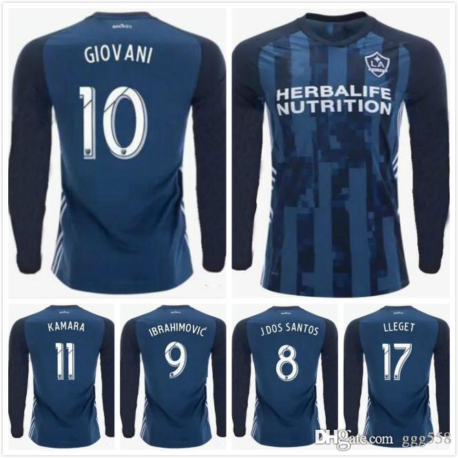 quality design 72cb1 fc77d New 2019 2020 MLS LA Galaxy Long sleeve Soccer Jersey 19 20 Los Angeles  Galaxy IBRAHIMOVIC GIOVANI DOS SANTOS Football Jerseys Shirt