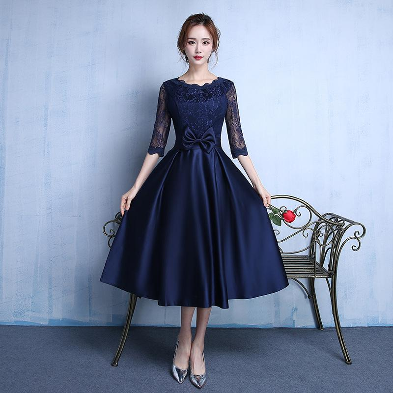 bae950e77d Women Short Evening Dresses Cheap Knee Length Prom Dresses Lace ...