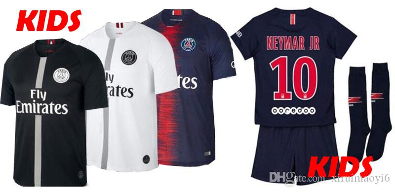 9c6981609b6 2019 2018 2019 PSG Third Maillot MBAPPE Boys Soccer Jersey CAVANI VERRATTI  Top Thailand 18 19 Paris Kids Football Kit KIMPEMBE Camiseta De Futbol From  ...