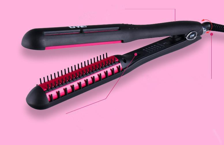 Care & Styling Tools Straight hair comb brush hair curler Titanium Hair Straightener Straightening Irons With box FZP111