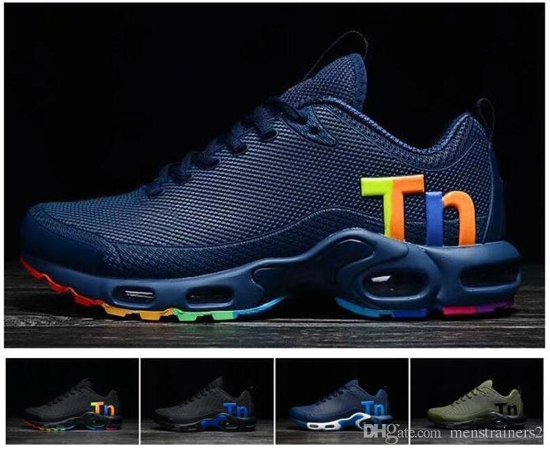 db70f3335d0 Newest Mens Airs Vapormax VM Tn Running Shoes Fashion Rainbow Colorfull Men  Designer Sneakers Chaussures Hombre Tn Man Sport Trainers Online with ...