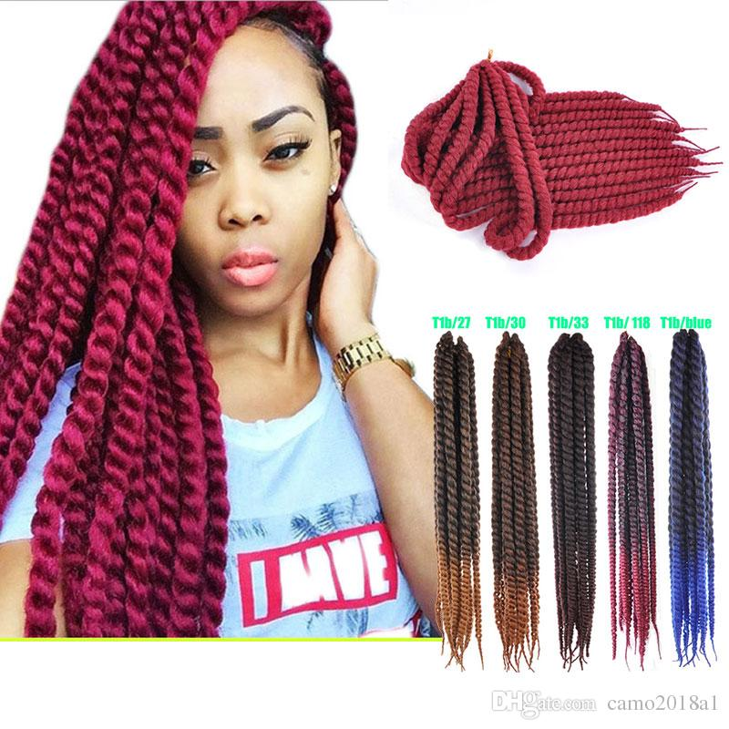 22'' PW Hanvan Mombo Braiding Hair Extensions 12 Roots/pack Crochet Braids Hair Full Hand Weaving Sythentic Hair Products Vendors