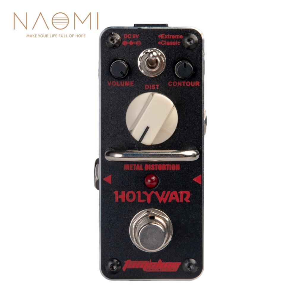 NAOMI AROMA AHOR-3 HOLY WAR Guitar Pedal True Bypass Metal Distortion Mini Analogue Effect Pedals For Electric Guitar