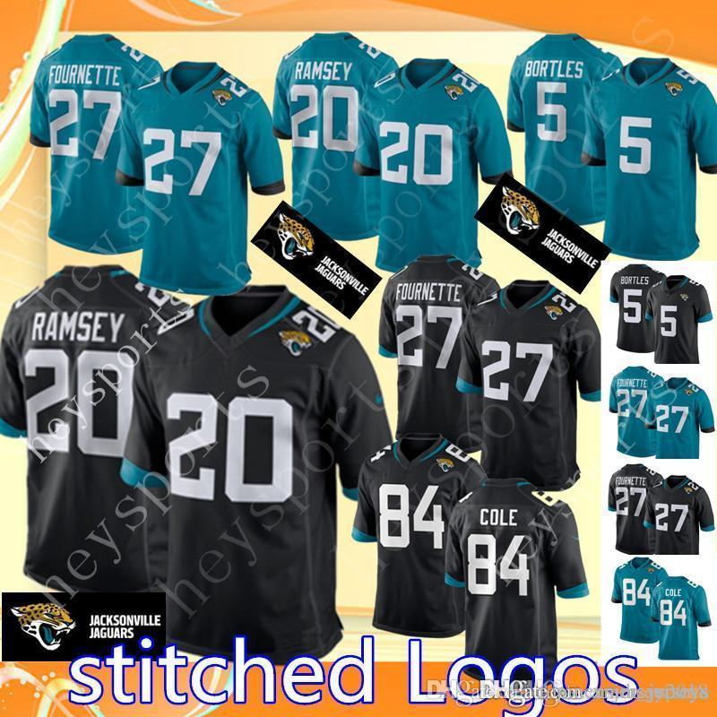purchase cheap ae807 643b7 20 Jalen Ramsey Jacksonville Jaguars 27 Leonard Fournette Jersey Mens 5  Blake Bortles 84 Cole Football Jerseys stitched Logos