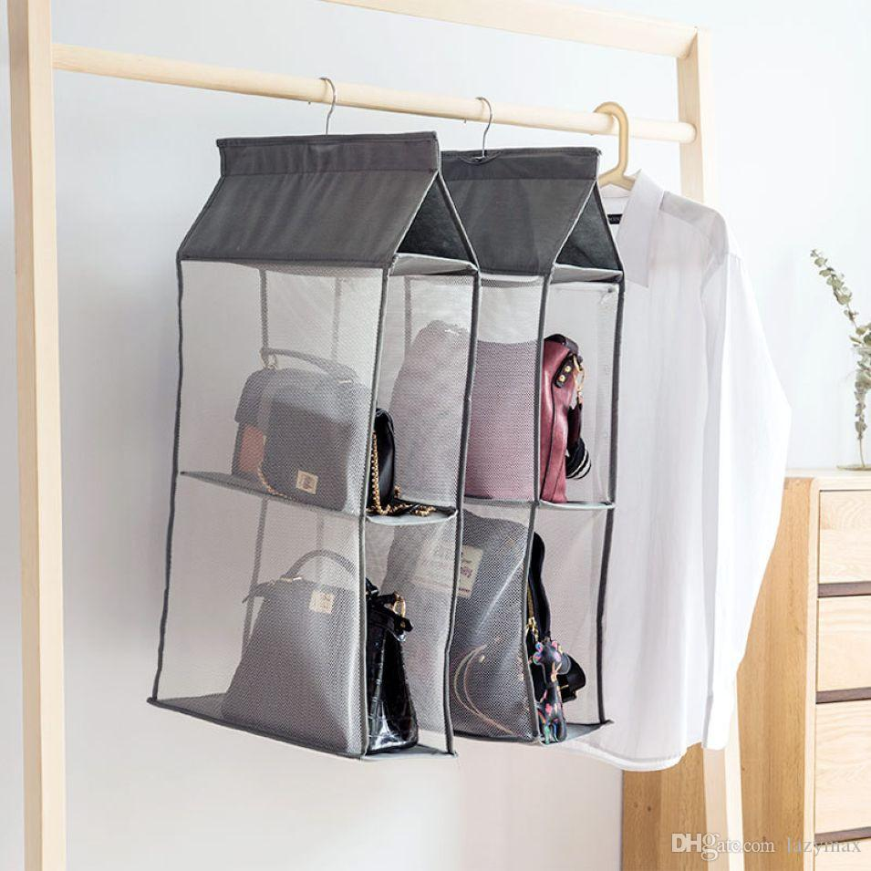 Dustproof Hanging Storge Bag Leather Bag Wallet Organiser Travel Business Non-woven Fabric Hanging Wardrobe 10 Pieces DHL