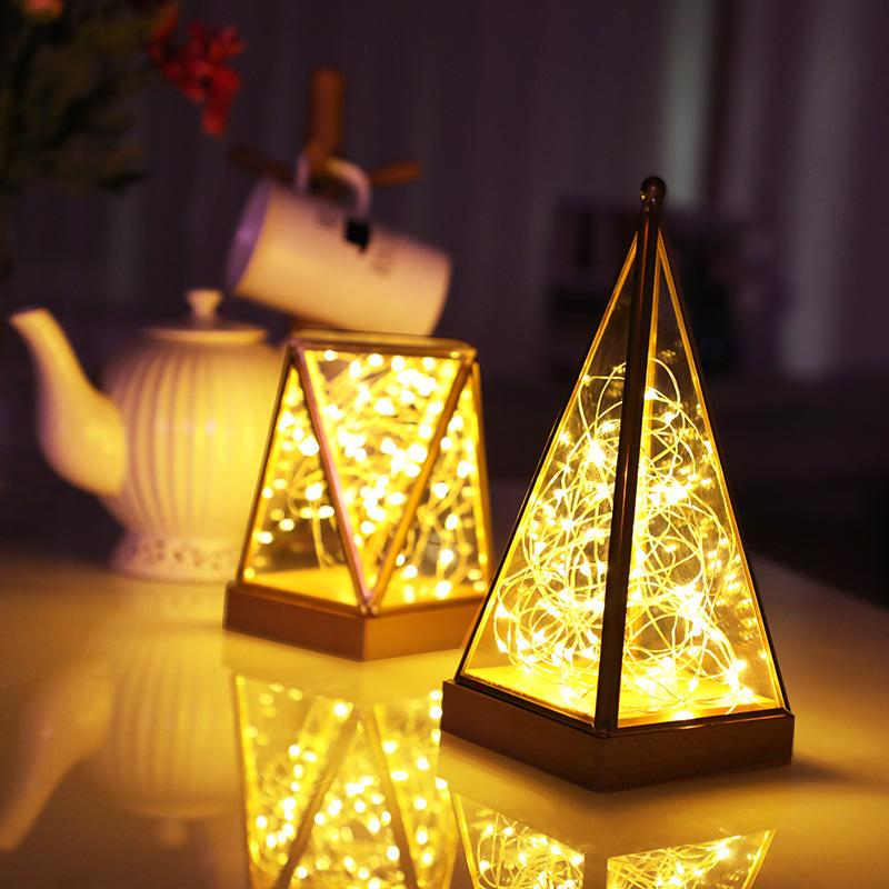 new product led copper wire lamp string small night light ins desk light  room bedroom decoration lantern shop outdoors pendulum desk lamp ball  string lights