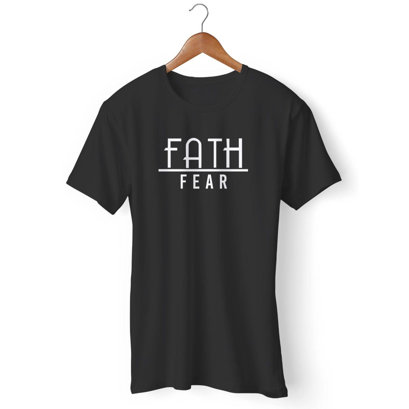 Faith Over Fear Oatmeal Cranberry Christian Man's / Woman's T-Shirt Funny free shipping Tshirt top
