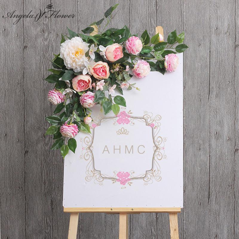 68 Flowers Creative Sign Wedding From Decor Welcome Water 28 2019 com Haifoo Arch Diy Flores Hotel Card Dhgate Artificial Lead Props Wall Floral Road