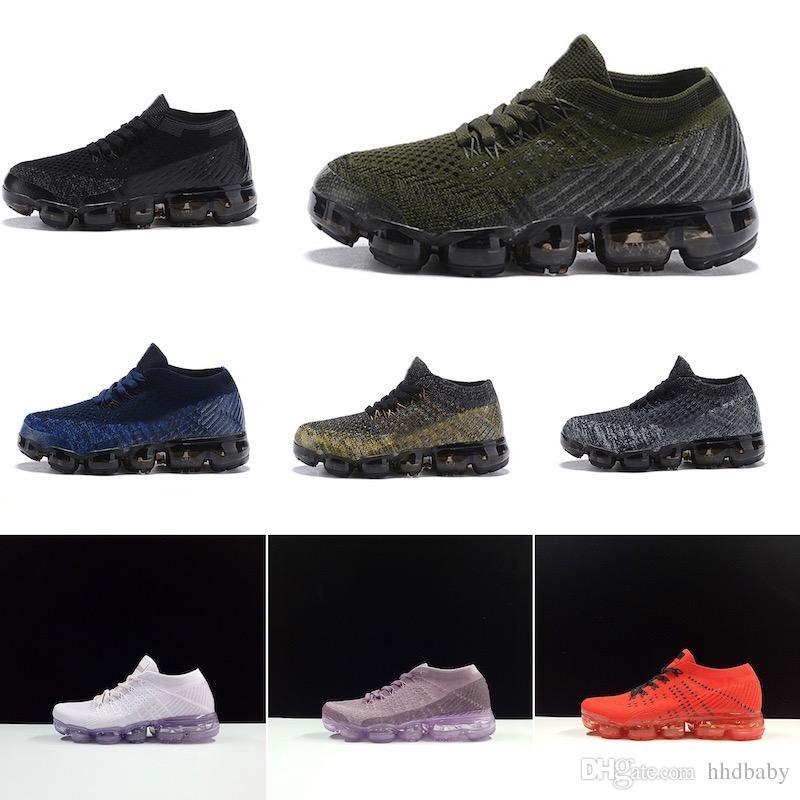 Nike air max 2018 Niños Zapatillas de running Zapatillas de deporte infantiles Infantiles arco iris negras Zapatillas deportivas para niños, niñas y