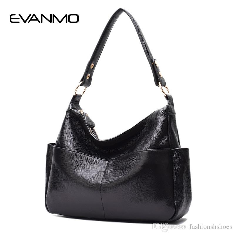 40fb68cac5bbfc Classic Fashion Genuine Leather Women's Shoulder Bag First Layer Cow Leather  Hobo Bag Cowhide Ladies Designer Shoulder Bags #281829