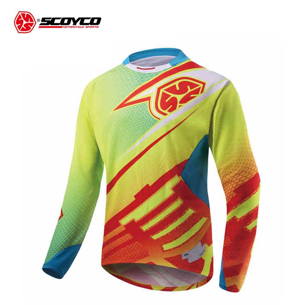 0e041245a1 Compre SCOYCO Motocicleta Jaqueta Off Road T Shirt Passeio De Bicicleta De  Manga Longa Camisa De Motocross Jersey Moto Jaqueta Motoqueiro De  Nqingfeng