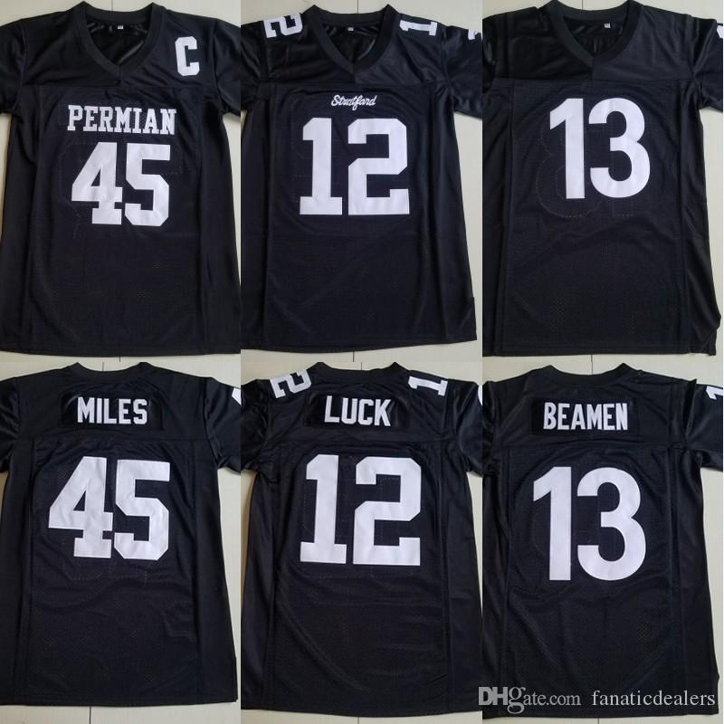 huge discount bc1e5 e0d95 Willie Beamen Football Jersey #13 Any Given Sunday Black #12 Andrew Luck  Stitched Movie Football Jerseys Size S-XXXL Free Shipping