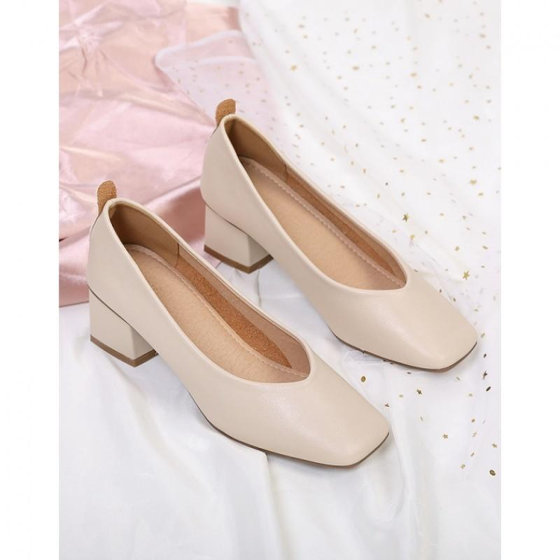 Sexy2019 2019 Shoes High-heeled Superficial Estuary Single Woman Coarse With Mary Jane Square Grandma Shoe Fairy