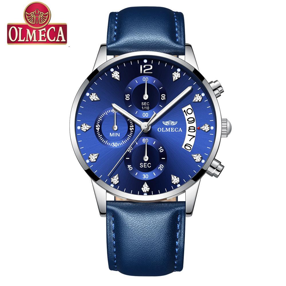 da5ffd299bbc Compre OLMECA Relojes Para Hombre De Primeras Marcas De Lujo Militray Sport  Reloj De Cuarzo Hombres Impermeable Masculino Reloj Deportivo Relojes De  Pulsera ...