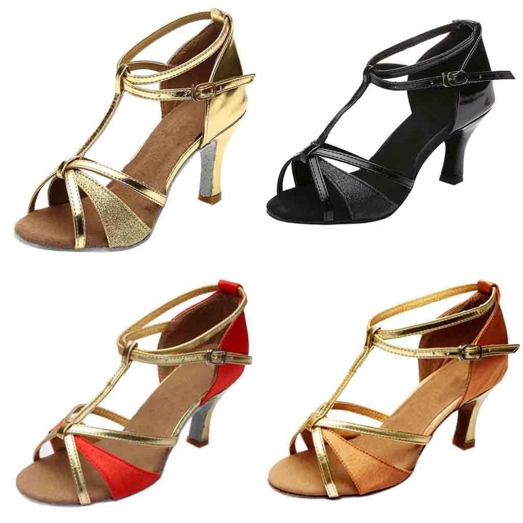 5d900fd12e6f Youyedian 2019 Fashion Girl Latin Dance Shoes Med Heels Satin Shoes Party  Tango Salsa Dance Shoes Dames Schoenen High Heel  g30 Wedges Shoes White  Shoes ...