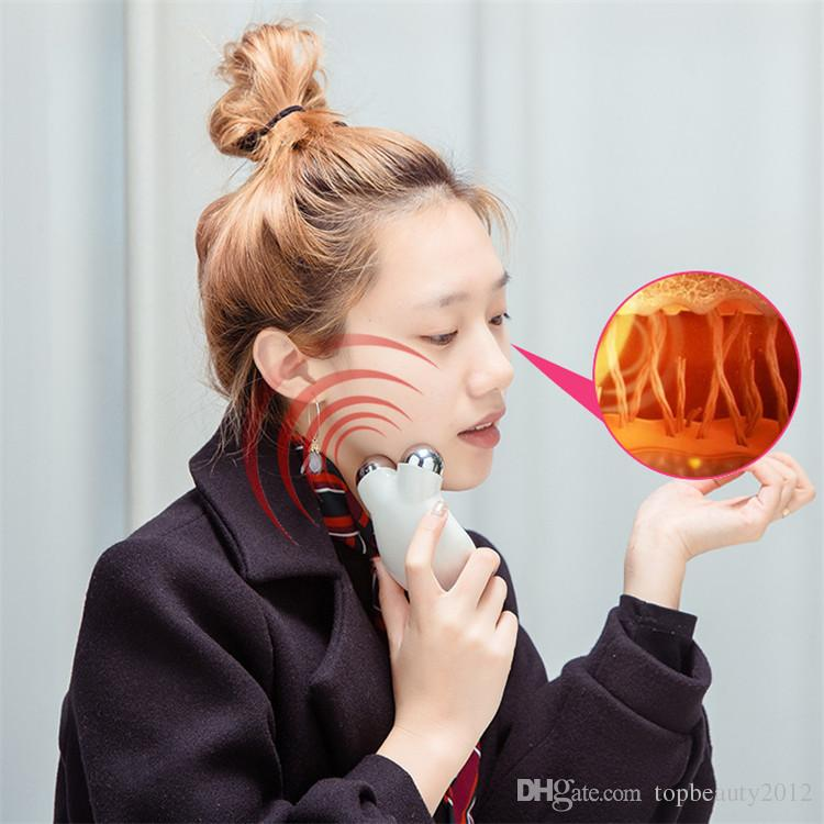 Nouveau mini machines de tonification du visage petit EMS masseur de visage galvanique anti-âge micro-courant bio lifting visage traitement de soins de la peau dispositif
