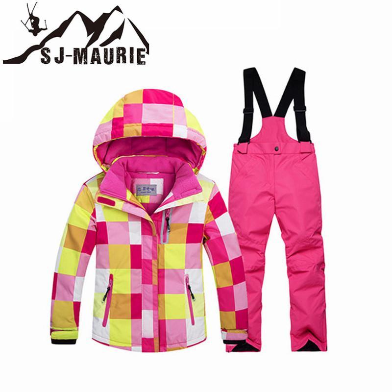 30734279f Boys Girls' Winter Ski Suits Outdoor Waterproof Skiing Snowboarding Camping  Hiking Kids Ski Jackets + Pants Children Skiing Jackets Cheap Children  Skiing ...