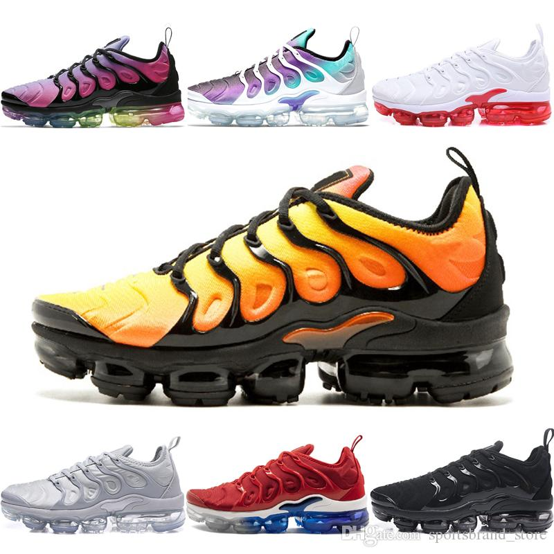 083c74656d1 Acheter Nike Air Vapormax Plus Shoes Plus SUNSET Hommes Femmes Chaussures  De Designer Raisin Triple Noir Blanc Gris Cool Hyper Violet BE TRUE Baskets  Red ...