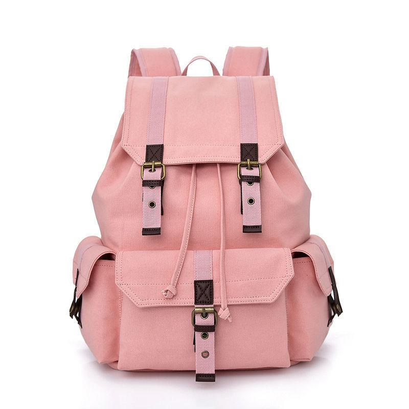 High Quality Canvas Backpack New Fashion Personality College Wind Student  Bag Large Capacity Leisure Wild Travel Backpack School Bags Messenger Bags  From ... 8cabef50f3e52