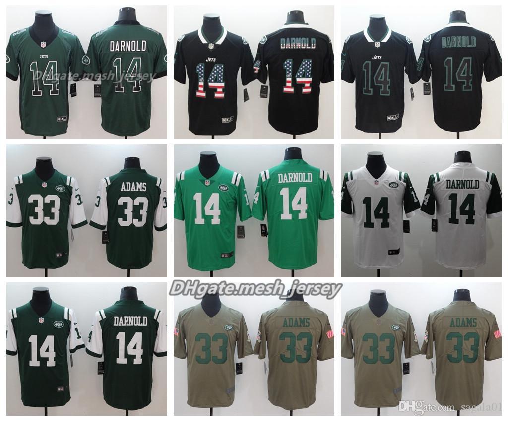 low priced bb501 489e8 Men New York Jersey Jets 14 Sam Darnold 33 Jamal Adams Color Rush Football  Stitching Jerseys Embroidery Logo