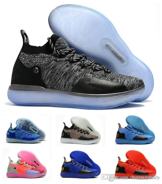 competitive price 6c139 ee9af New Boys Kids Kevin Durant KD 11 11S Multi Color KD11 XI Trainers Zoom  Youth Girls Women X Elite Mid Sport Basketball Shoes 36-40