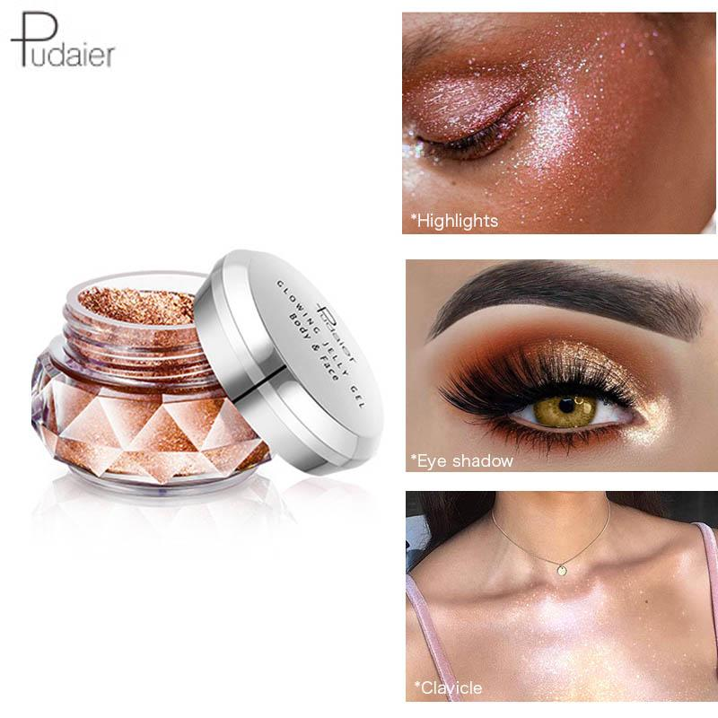 Beauty Essentials Lower Price with Pudaier Hot Jelly Gel Highlights Powder 3d Face Persistent Body Highlight Paste Mermaid Eye Shadow For All Skin