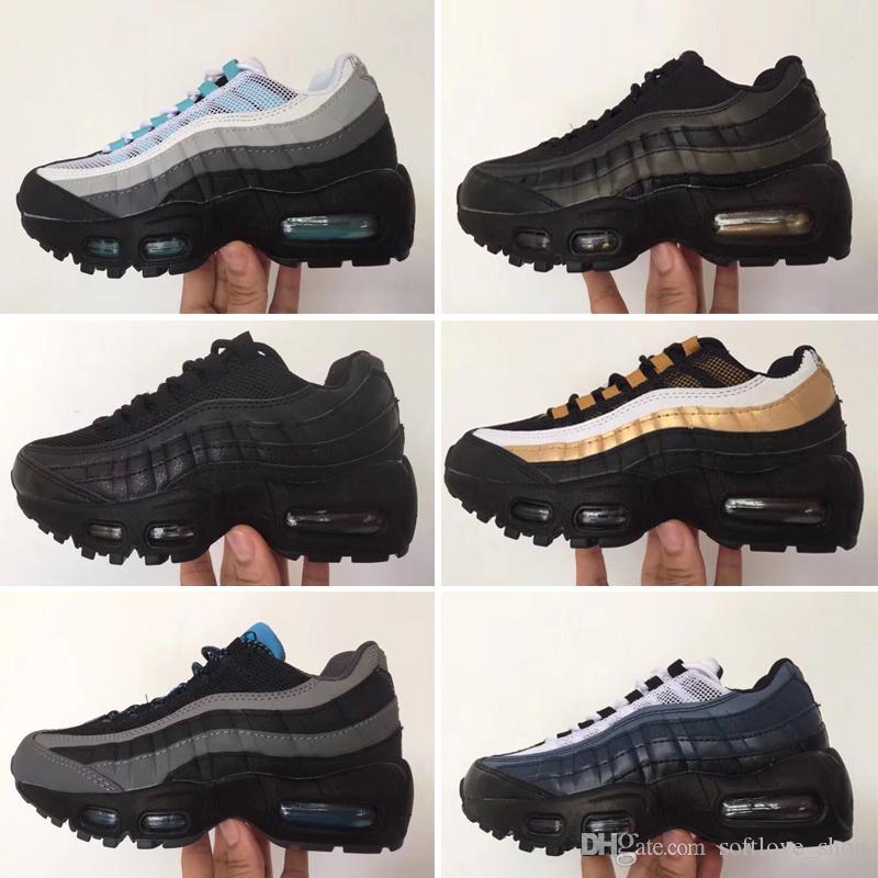 Nike air max 95 2019 Enfants Tout petits Chaussures 95 Enfants Garçons Filles 95s Og Chaussures de course Sport Trainer Coussin de Surface Respirant