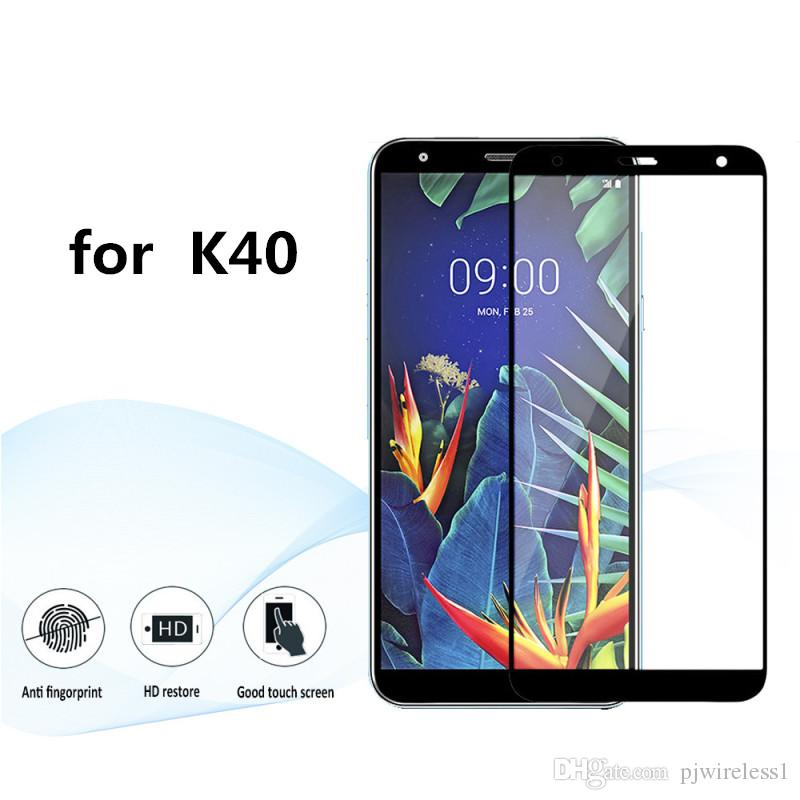 For LG Aristo Metropcs for lg stylo 4 for LG K40 K50 screen 3D Protector  Full Tempered Glass with Retail packaging B