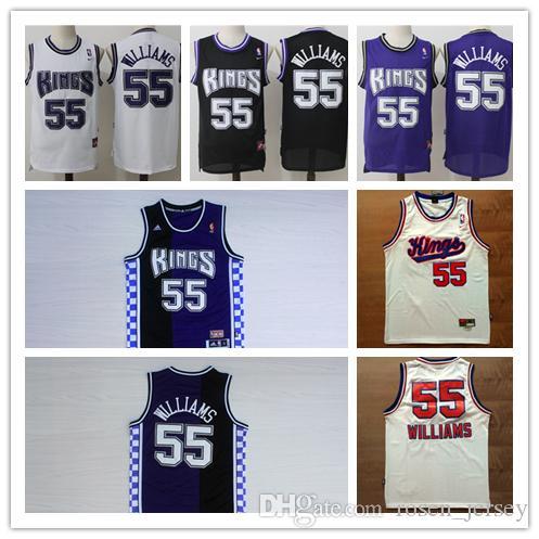 d54ec337e4c 2018 High Quality 55 Jason Williams Basketball Jerseys Retro Kings Purple  Black White Cheap Men Stitched Shirt Jason Williams Jersey Embroidery From  ...