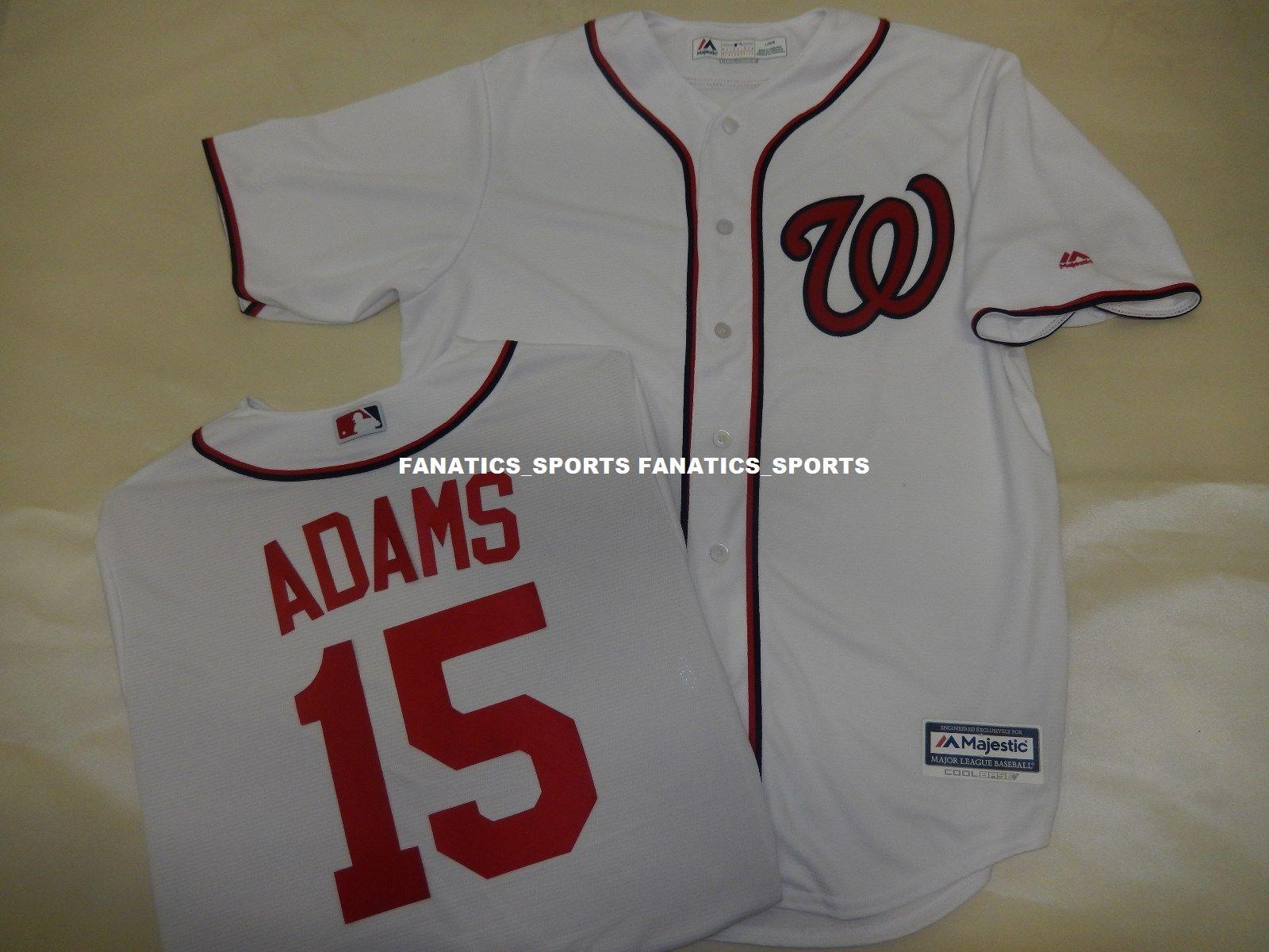 a35b90f4a Washington Nationals MATT ADAMS Sewn Cool Base JERSEY WHITE New Add Any  Name Number XS-5XL Washington Nationals MATT Online with  43.2 Piece on ...