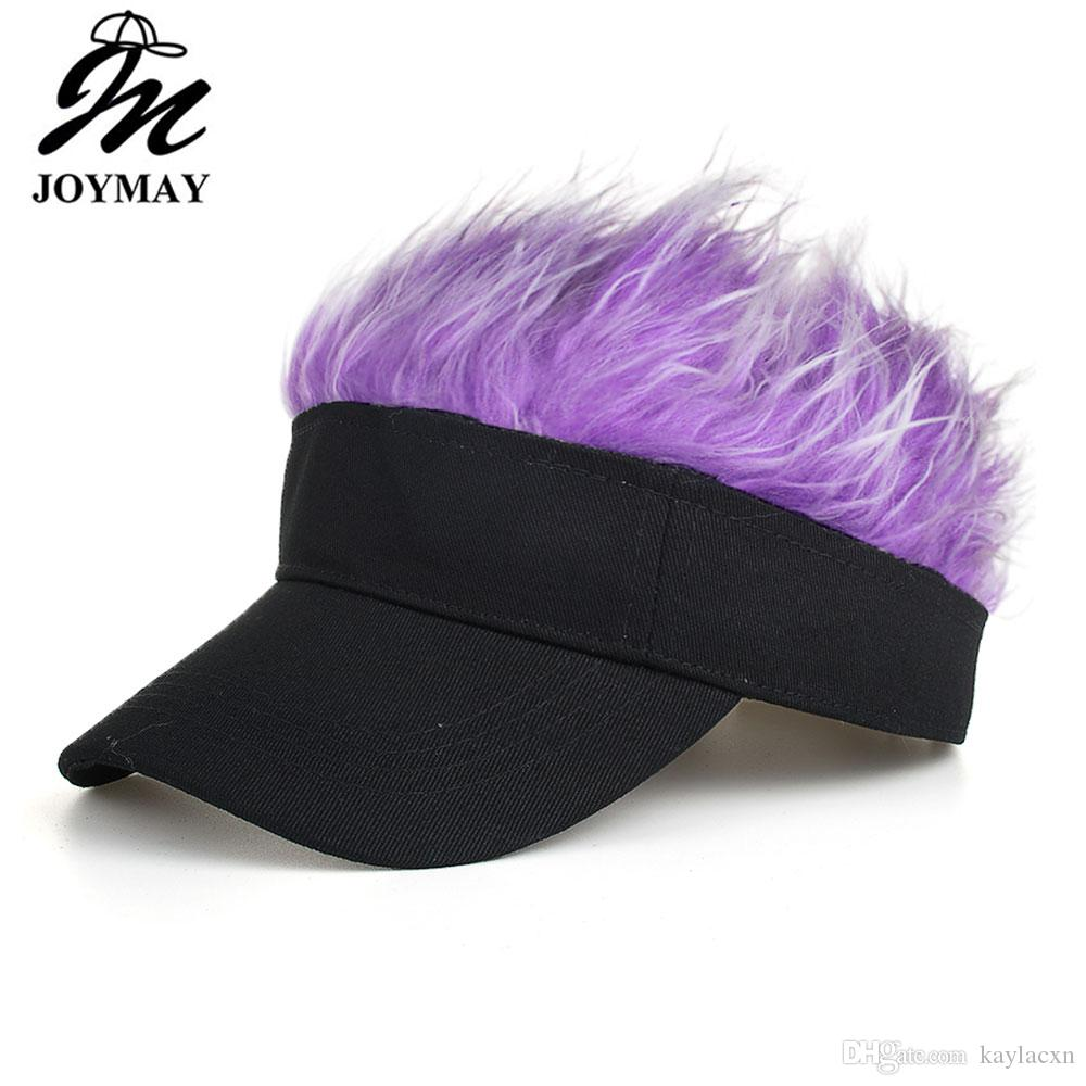 d07fc29c1c5 Joymay Fan Solid Color Fake Flair Hair Snapback Hats Kids Toupee Wig ...