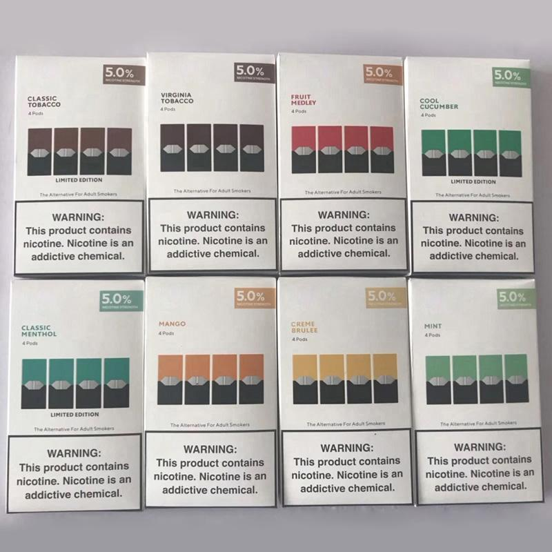 Top quality Vape Pen New Package 8 flavors mango Mint For vaporizer Portable vape pen kit refillable cartridge