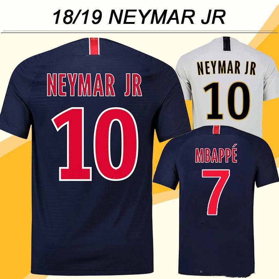classic fit 2266b b1581 2018 19 NEYMAR JR Soccer Jerseys MBAPPE CAVANI Home Away Mens Football  Shirts New Top Quality DI MARIA T.SILVA Short Sleeves Uniforms