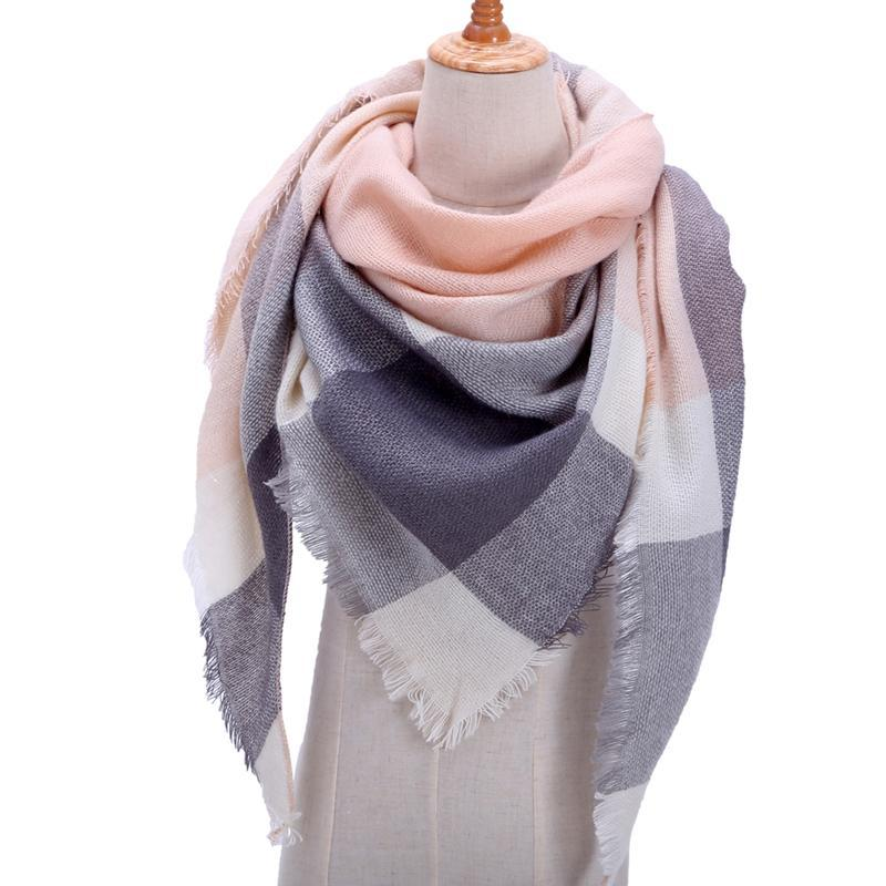 Designer Strick Frühlings-Winter-Frauen-Schal-Plaid-warmer Kaschmir Schals Luxuxmarken Neck Bandana Pashmina Lady Wrap Blanket
