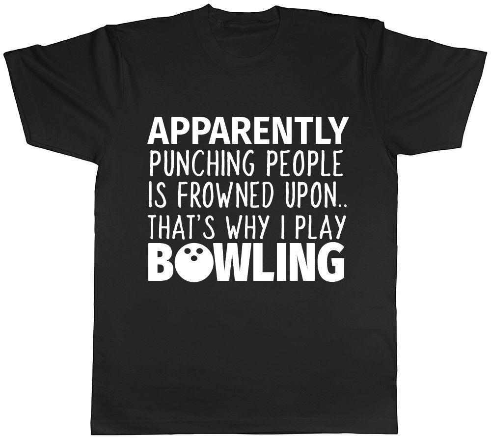 e3a91230fa Punching People Is Frowned Upon Mens Womens Ladies Unisex Funny Bowling T  Shirt Funny Unisex Casual Tshirt Quality T Shirts T Shirt Slogans From  Stylemixxuk ...