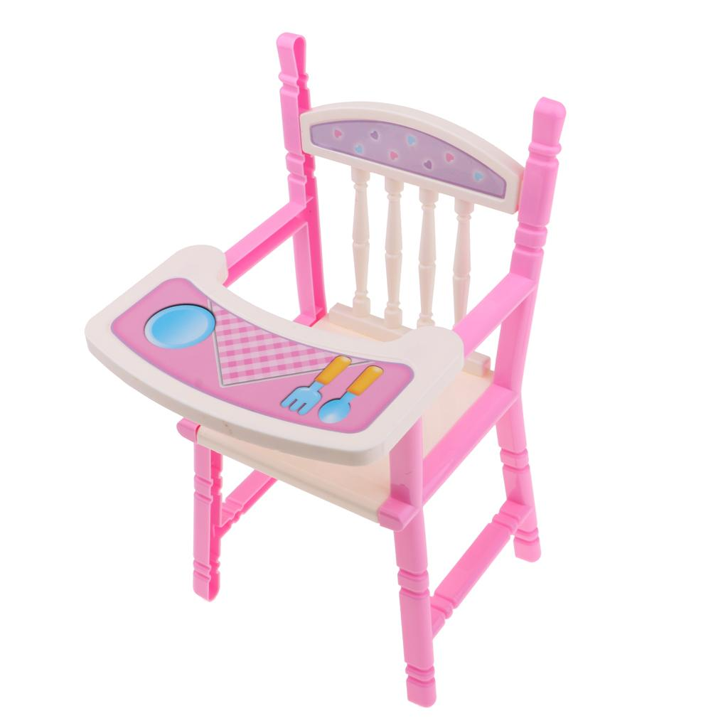 Pink High Chairtoddler Dining Chair Baby Doll Children Toys High