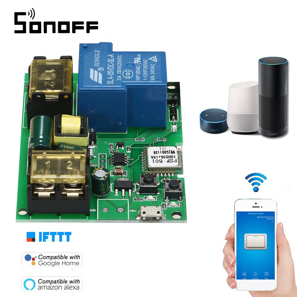 Sonoff USB DC5V AC85-250V 30A Wifi Switch Wireless Relay Module Smart Home Automation Modules APP Remote Control Switch